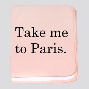TAKE ME TO PARIS baby blanket