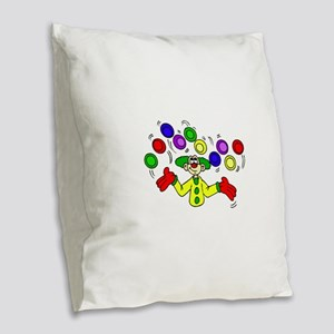 funny clown Burlap Throw Pillow