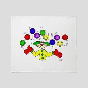funny clown Throw Blanket