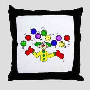 funny clown Throw Pillow