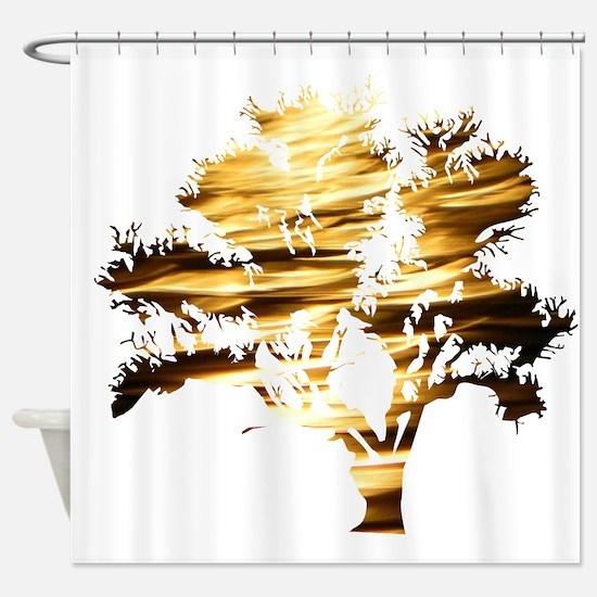 Moonshine Tree Shower Curtain