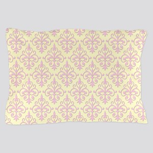 Carnation Pink & Cream Damask 41 Pillow Case