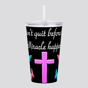 BELIEVE IN MIRACLES Acrylic Double-wall Tumbler