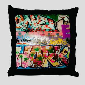 Graffiti Fun Series Throw Pillow