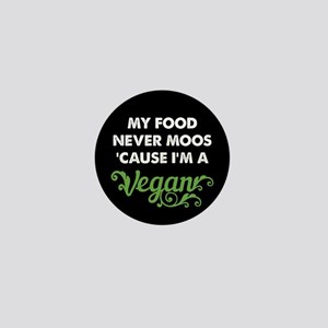 Food Never Moos Mini Button