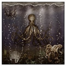 Octopus' Lair - Old Photo Wall Art Poster