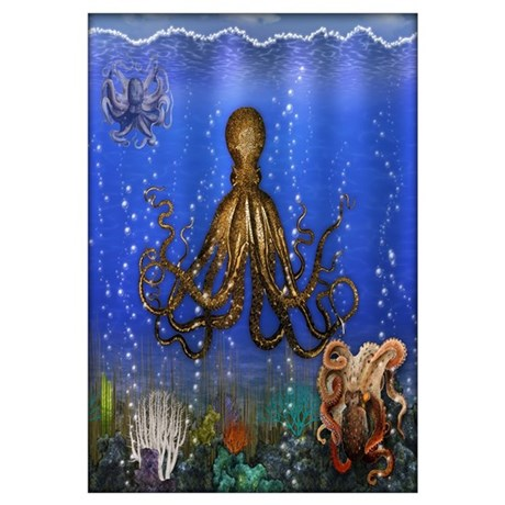 Octopusu0027 Lair   Colorful Wall Art
