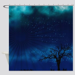 Blue Moon Nights Shower Curtain