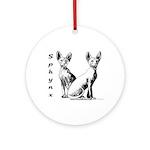 Sphynx Round Ornament