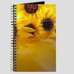 Backlit Sunflowers Journal