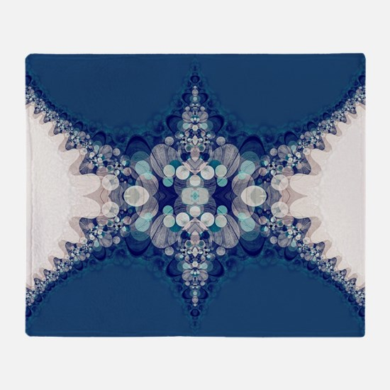 Blue Bahai Throw Blanket
