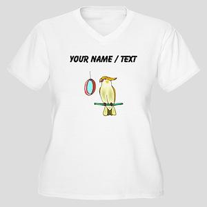 Custom Cockatiel with Mirror Plus Size T-Shirt