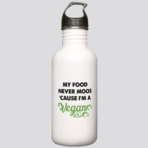 Food Never Moos Stainless Water Bottle 1.0L