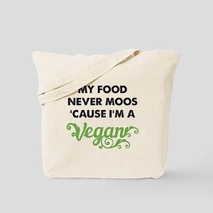 Food Never Moos Tote Bag