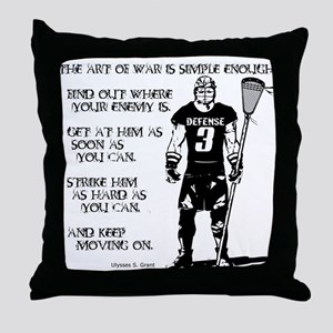 Lacrosse USG Quote 2 Throw Pillow