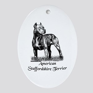 American Staffordshire Terrier Oval Ornament