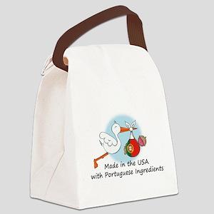 stork baby port 2 Canvas Lunch Bag