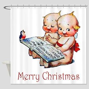 Kewpies - Merry Christmas! Shower Curtain