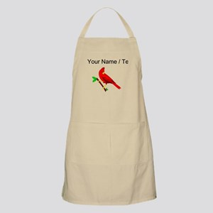 Custom Red Cardinal Apron