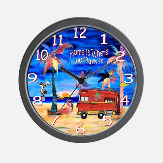 Cute Rv Wall Clock
