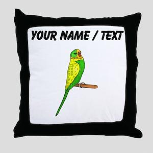 Custom Budgie Bird Throw Pillow