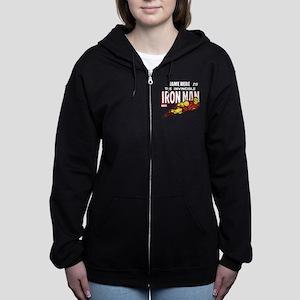 Personalized Invincible Iron Ma Women's Zip Hoodie