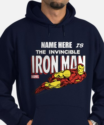 Personalized Invincible Iron Man Hoodie (dark)