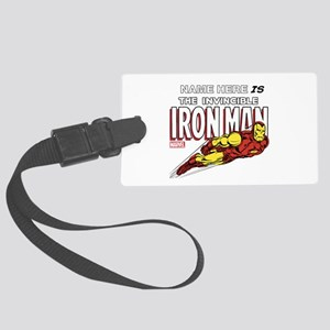 Personalized Invincible Iron Man Large Luggage Tag