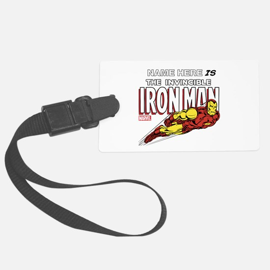 Personalized Invincible Iron Man Luggage Tag
