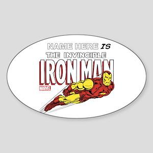 Personalized Invincible Iron Man Sticker (Oval)