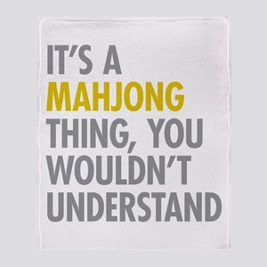 Its A Mahjong Thing Throw Blanket