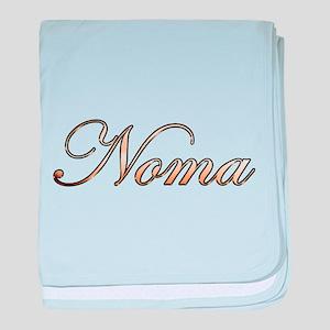 Gold Noma baby blanket