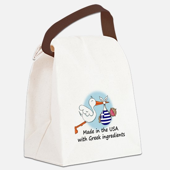 stork baby greece 2.psd Canvas Lunch Bag