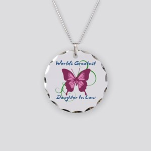 World's Greatest Daughter-In Necklace Circle Charm