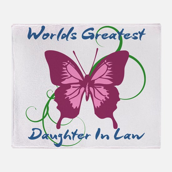 World's Greatest Daughter-In-Law Throw Blanket