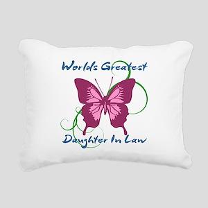 World's Greatest Daughte Rectangular Canvas Pillow