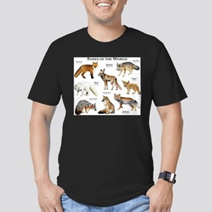 Foxes of the World Men's Fitted T-Shirt (dark)