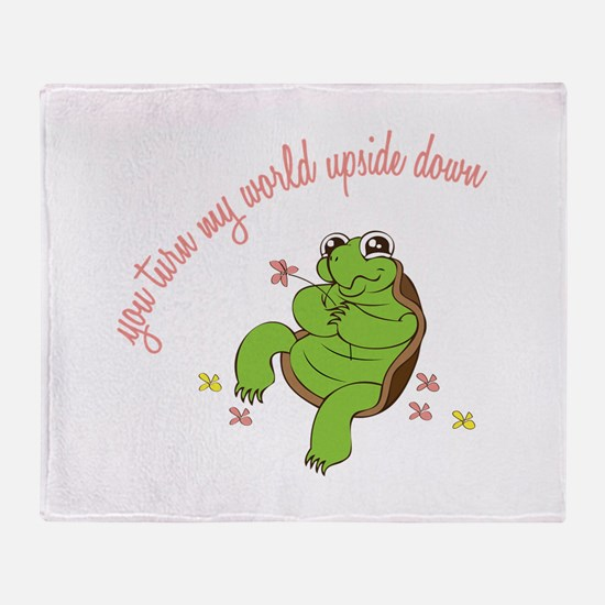 Turn My World Throw Blanket