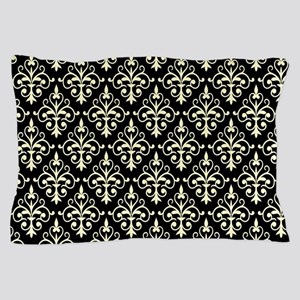 Cream & Black Damask 41 Pillow Case