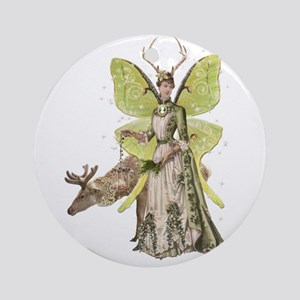 Reindeer Guardian Angel Ornament (Round)