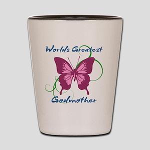 World's Greatest Godmother Shot Glass