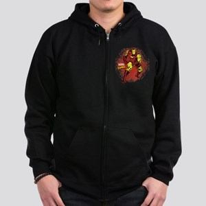 Iron Man Fist Zip Hoodie (dark)
