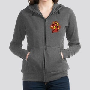 Iron Man Fist Women's Zip Hoodie