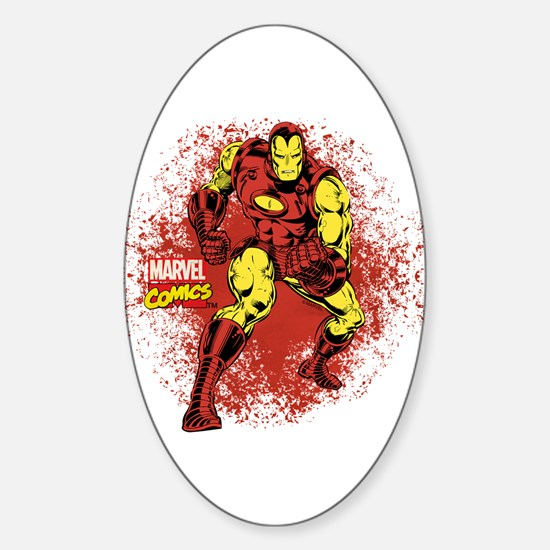 Iron Man Fist Sticker (Oval)