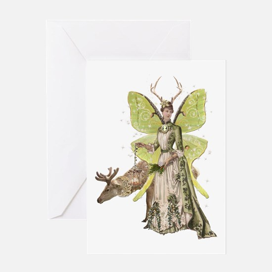 Reindeer Guardian Angel Card Greeting Cards