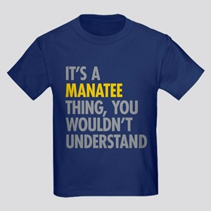Its A Manatee Thing Kids Dark T-Shirt