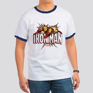 Iron Man Flying Ringer T