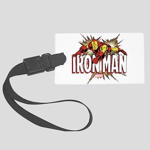 Iron Man Flying Large Luggage Tag