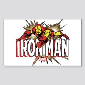 Iron Man Flying Sticker (Rectangle)