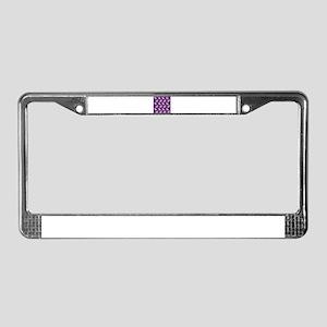 Decorative Doves on Lavender License Plate Frame